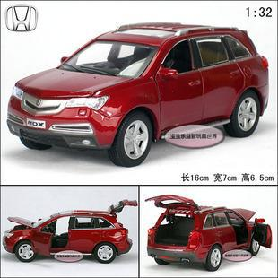 New ACURA Mdx 1:32 Alloy Diecast Model Car Toy With Sound & Light Red Toy Collection B1845(China (Mainland))