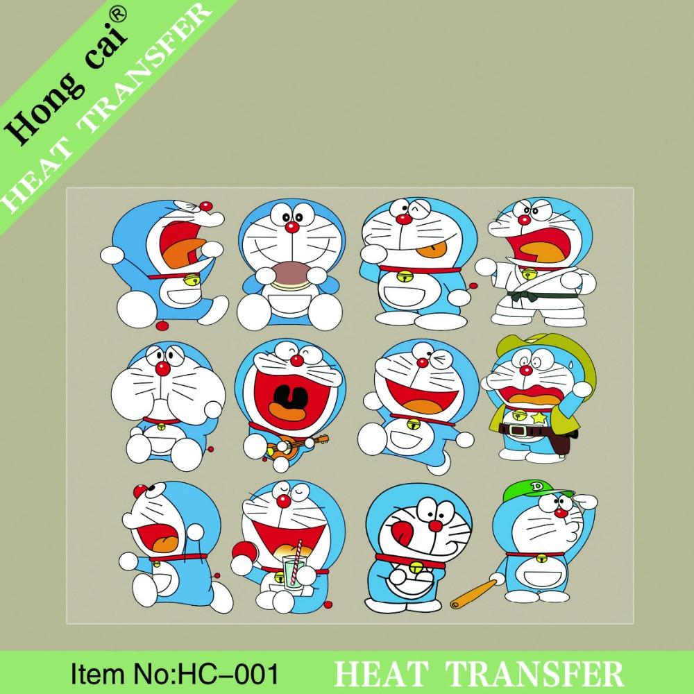 HongCai Heat transfer:10 pcs~ Cartoon Machine cat PET clothing heat transfer printing paste Cat pattern paste heat transfer(China (Mainland))