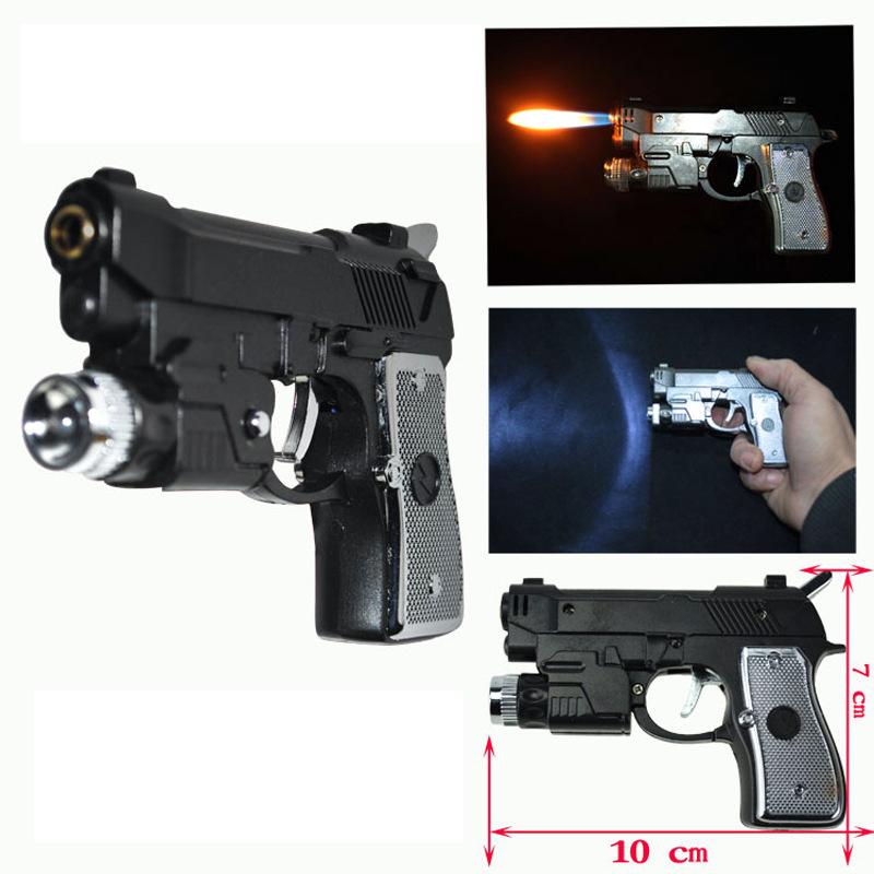 Electric Shock Led Pistol lighter Gun toy 3 in 1 function Joke Prank Trick Funny toy(China (Mainland))