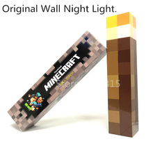 Light Up Minecraft Torch LED Night Wall Light Minecraft Game Design Toys Torch Hand Held or Wall Mount Home Party Decorations #Z
