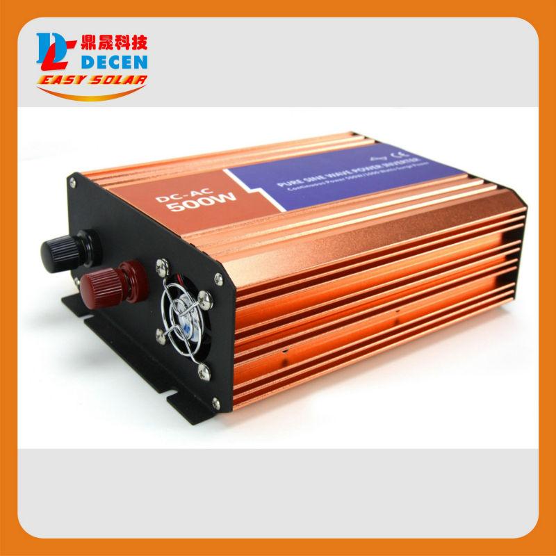 Фотография 12VDC/24VDC ,500W , Off-grid Pure Sine Wave Solar Inverter or wind inverter,Two year Warranty