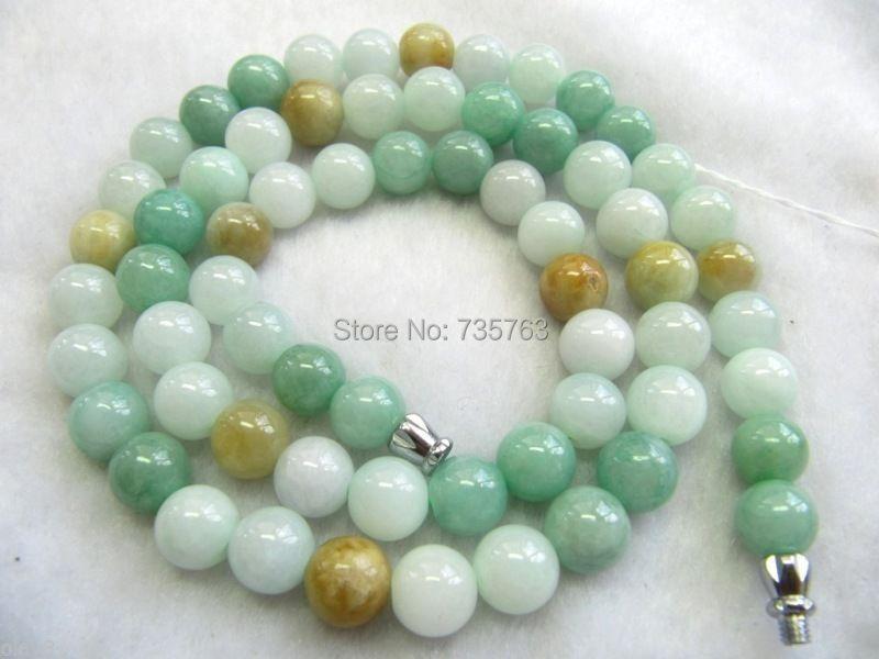 xiuli 0014445 Certified 100% Natural A Grade Jade /Jadeite Smooth Bead Necklace<br><br>Aliexpress
