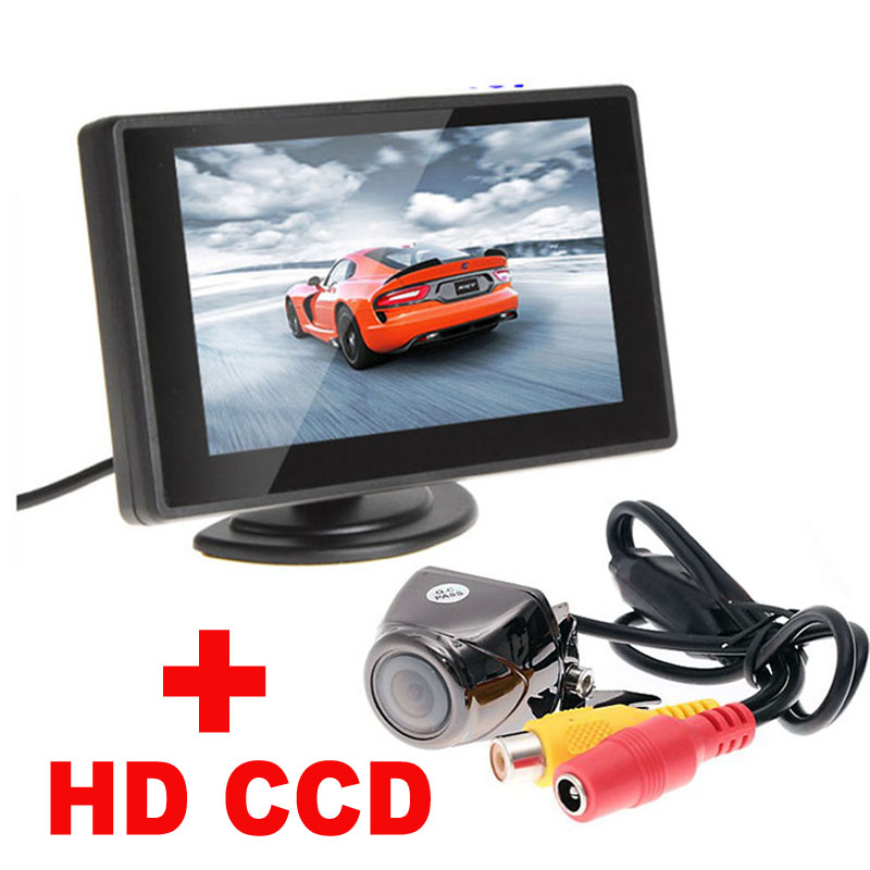 """4.3""""Digital TFT LCD Mirror Car Parking Monitor+170 Degree Car Rear view Rearview Camera 2 in 1 Auto Parking Assistance System(China (Mainland))"""