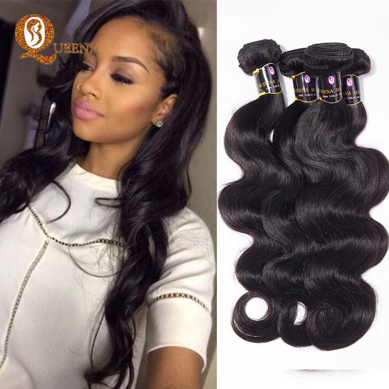 Grade 7a Unprocessed Brazilian Virgin Hair 4 Bundles Hj Weave Beauty Brazilian Body Wave Cheap Hair Bundles 4 100g Brazilian