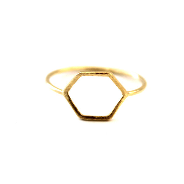 Hexagon Men Wedding Sons Of Anarchy Ring In Gold Silver For Women 2015 Wedding Gift Free Shipping(China (Mainland))