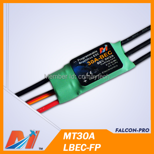 Maytech HV ESC 30A Brusless speed controller for rc motor model airplane(China (Mainland))