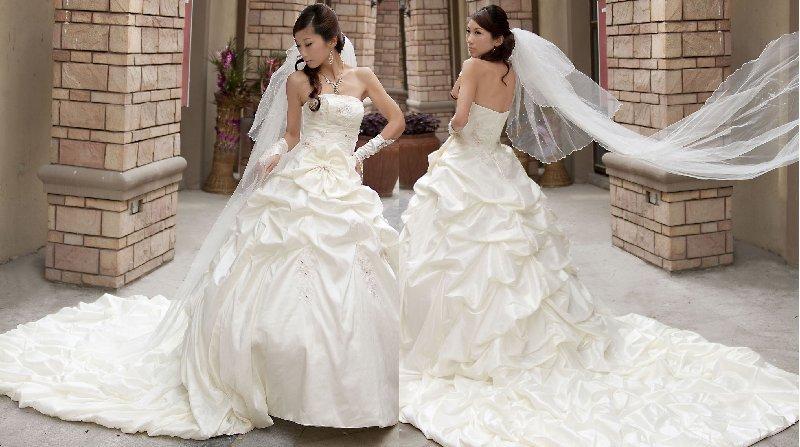 New bride wedding flowers trailing, TWHS-005