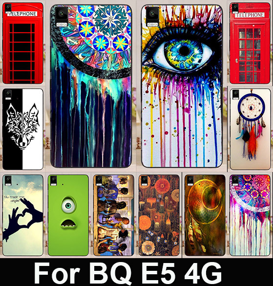 2015 New Style Telephone Booth Letters Series DreamCatcher Back Skin Shell For BQ Aquaris E5 (4G Edition) Cell Phone Cases Cover(China (Mainland))