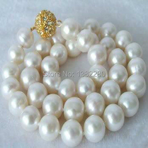 Free shipping! 18inch Huge AAAA+ 14mm White Shell Pearl Necklace 2 piece/lot fashion jewelry JT5573(China (Mainland))