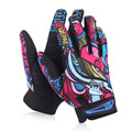 Wholesale Print Cycling Gloves Bike Bicycle Sports Full Finger Hiking Gloves Touch Mesh GEL Winter Gloves