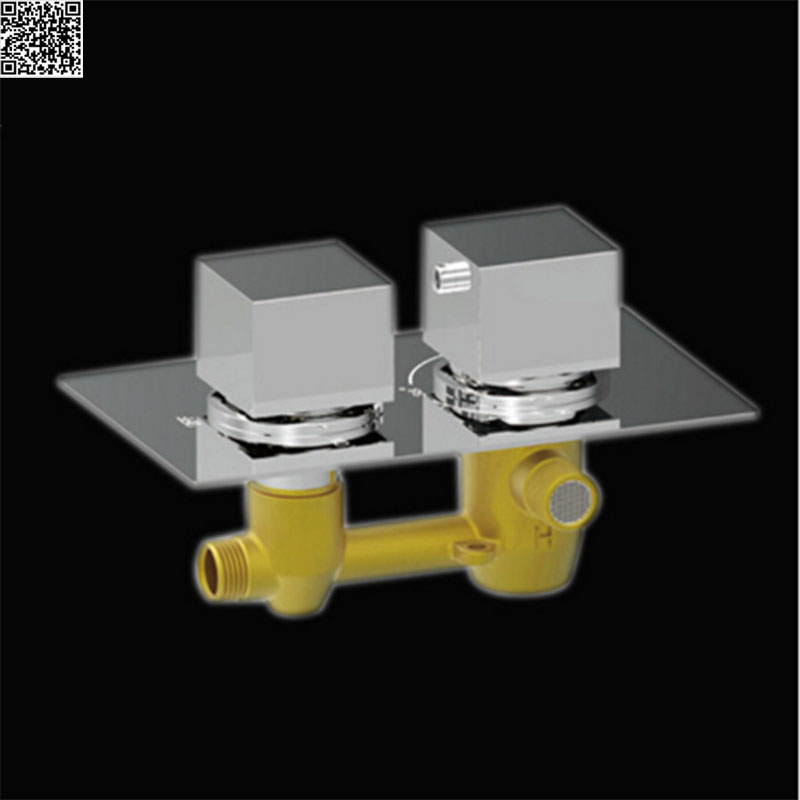 JMKWS Bathroom Accessories Brass Concealed Thermostatic Bath Shower Valve Mixer Faucet Taps Adjust Temperature Control Function(China (Mainland))