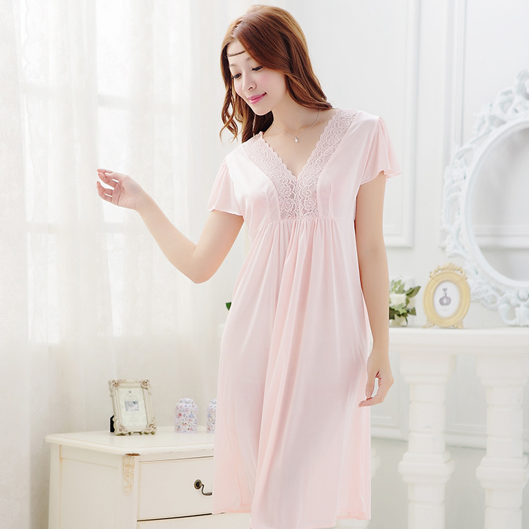 2015 summer style Noble sexy women's laciness lace royal spaghetti strap viscose long design nightgown(China (Mainland))