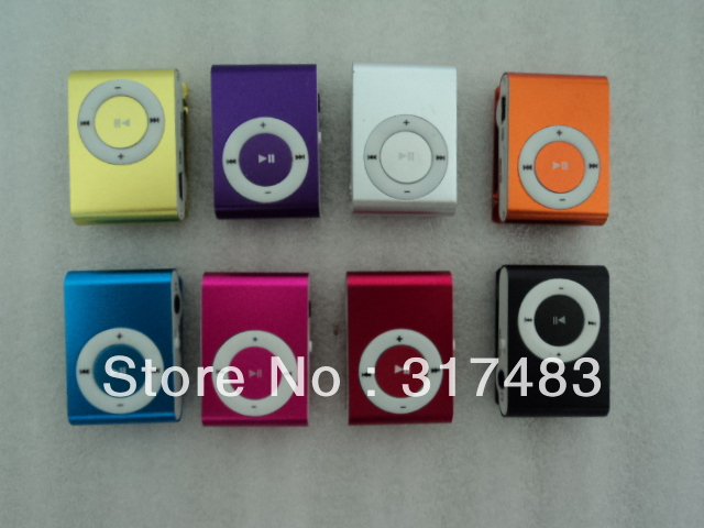 Lowest price MINI MP3 Player with Clip control 8 color support 8GB Micro SD(TF) card slim mp3 players(China (Mainland))