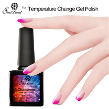 Saviland 1Pcs 10ml Change Color Changing Nail Polish Chameleon Gel Lacquer Thermal Nail Polish Need UV LED Gel