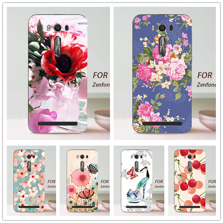 HOT ! Case Asus Zenfone 2 Laser 5.5inch ZE550KL Beautiful Flower Cover Fashion Tree Design case cover ASUS laser 5.5'  -  Factory store