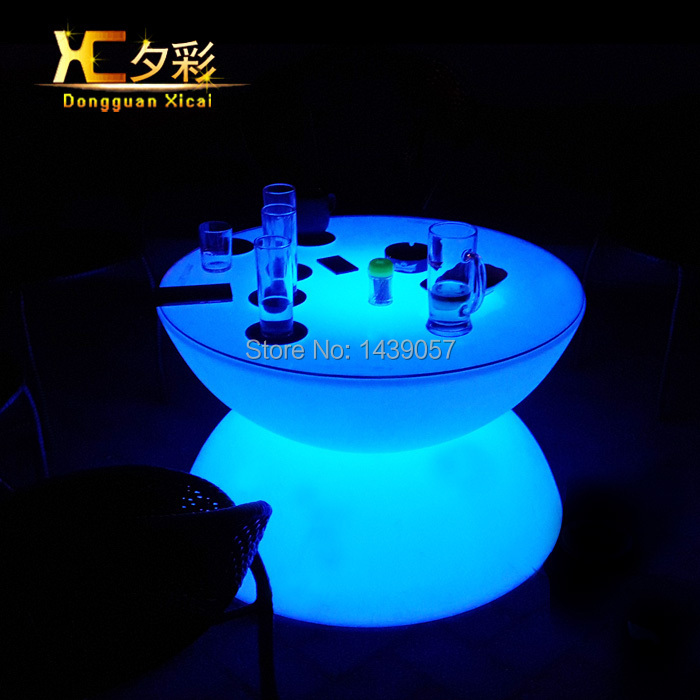 LED Bar Coffee Table Color Changeable Drinking Desk Plastic End Tables Furniture For Living Dining Room Wedding Ceremony Party(China (Mainland))