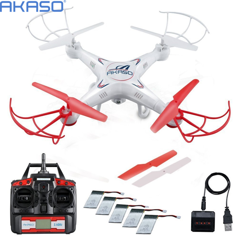 AKASO 100% Original X5C RC Helicopter Drone With camera HD Quadcopter 2.4GHz 4CH 6Axis RTF Remote Control Professional Dron Toys(China (Mainland))