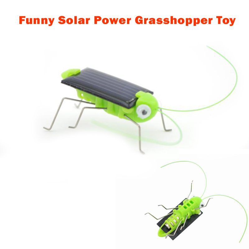 1 Piece Solar Power Toy Cool Funny Solar Energy Crazy Grasshopper Cricket Toys Best Birthday/Christmas Gift for Children(China (Mainland))