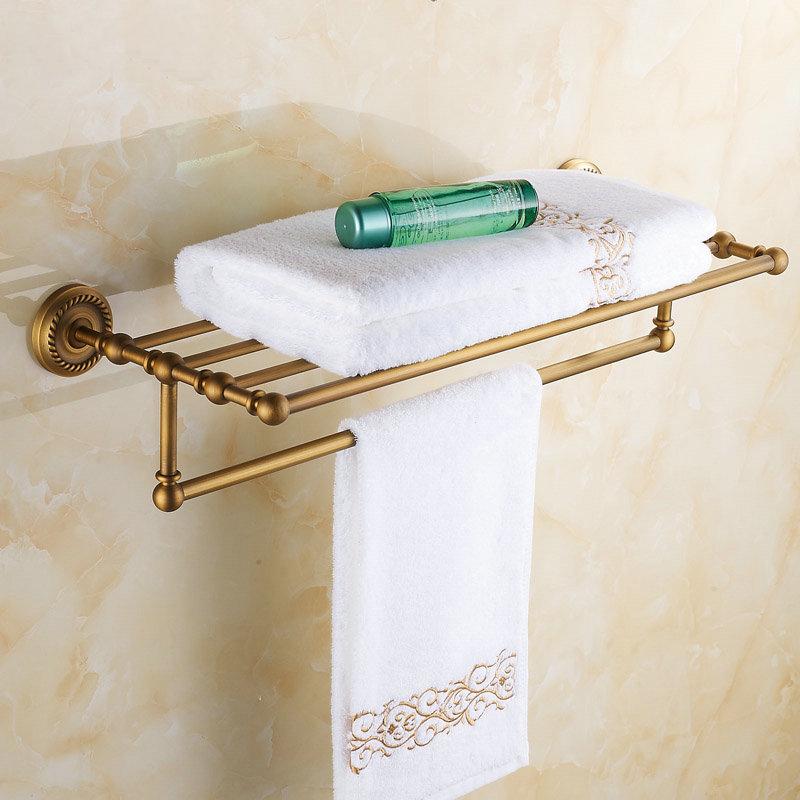 buy antique brass towel rack bathroom. Black Bedroom Furniture Sets. Home Design Ideas