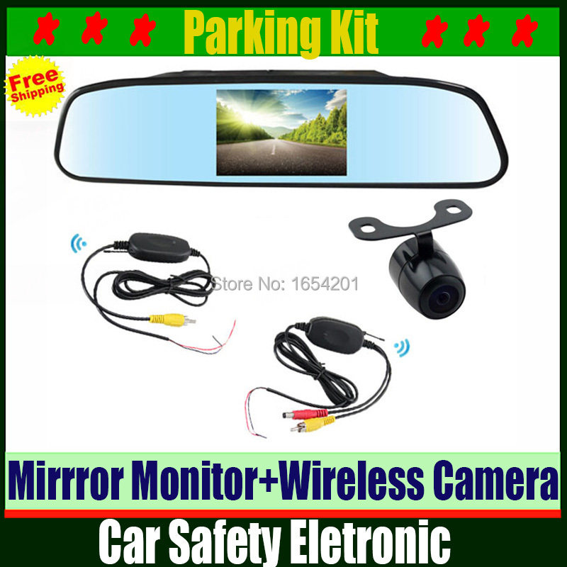 High resolution 4.3 inch TFT LCD Car TV Rearview Mirror Monitor with 2.4G Wireless Rear View Backup Reverse Camera Parking Kit<br><br>Aliexpress