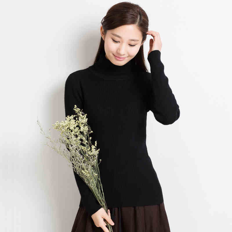 18 Colors Winter Turtleneck Sweater Womens Long-Sleeved Wool Sweater Pullovers Thick Wool Sweaters Pullover Tops Plus Size C1531