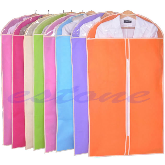 2014 New Dress Clothes Garment Suit Cover Bag Dustproof Jacket Skirt Storage Protector(China (Mainland))
