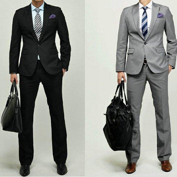 [bruce] 2014 Korean men's business casual suits wedding suit groom groomsman mens suit men suits for wedding best prom suits
