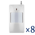 Free Shipping 8 Pcs lot 433Mhz Wireless PIR Sensor Motion Detector For Wireless GSM PSTN Auto