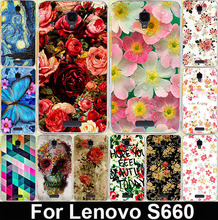 Hot Beautiful Rose Peony Flower Case Lenovo S660 Colored Painted Back Cover Case For Lenovo S660 Cell Phone Case Bags Skin Shell