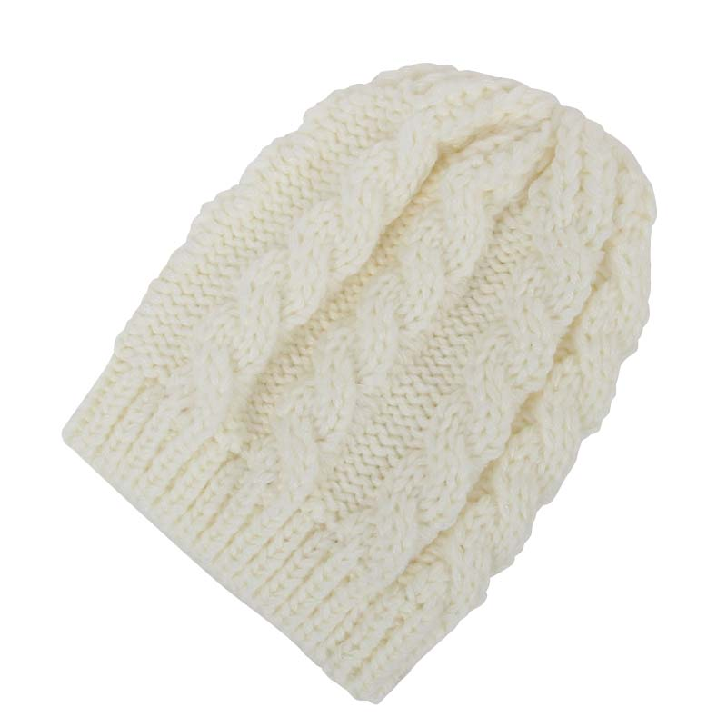 2016 New Arrival Baby Cream-colored Wool Hat Exported To Europe Warm Winter Baby Set of Head Cap Hats Cable Knit Beanie Sm all(China (Mainland))