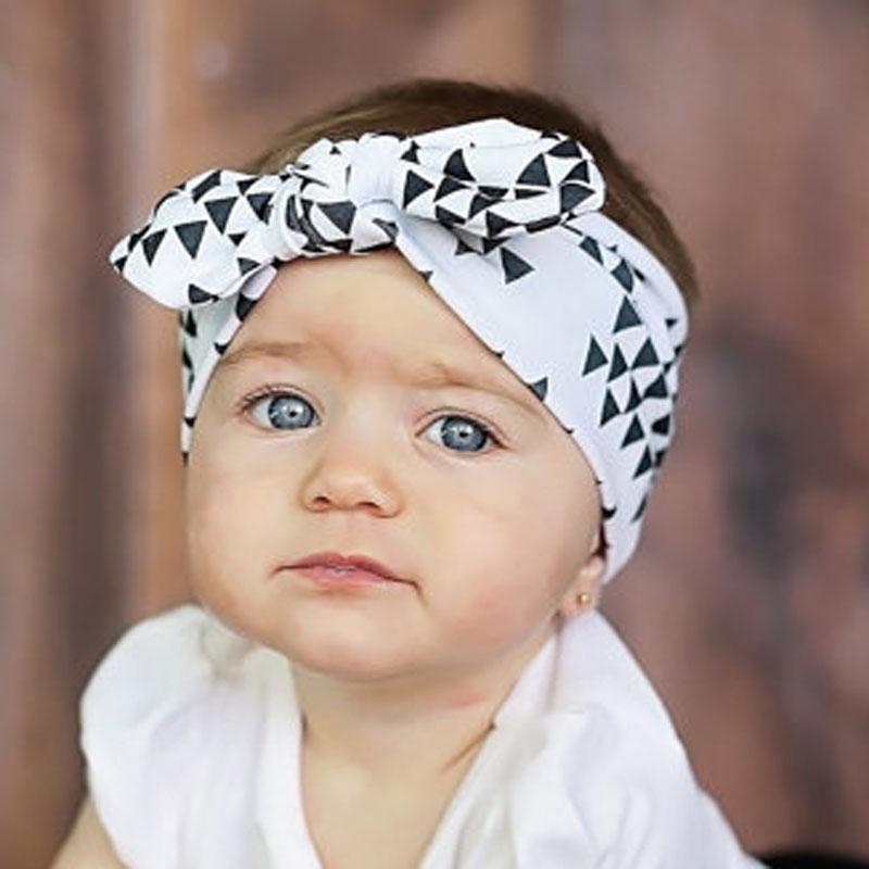 1Pcs Baby Girl Lovely Bows Headband Infant Toddler Graffiti Fabric Bunny ears Turban Knot Hairband For Newborn Hair Accessories(China (Mainland))