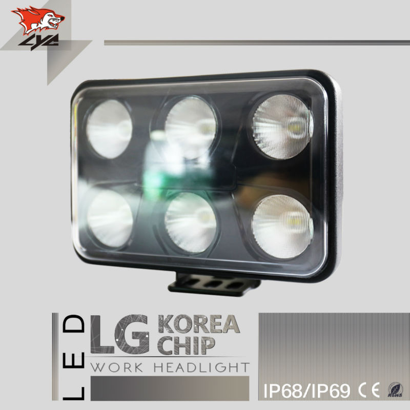 LYC Led Worklight For Agricultural Vehicles Led Police Promotion Truck accessories Different Light Pattern 4500LM 3000k 6000K(China (Mainland))