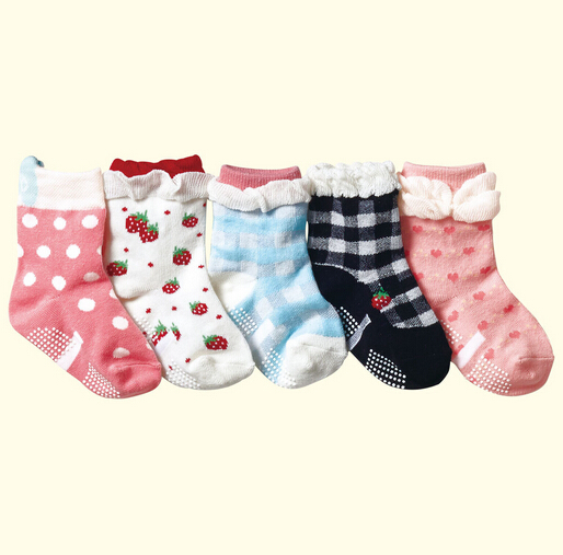 10pairs/lot Cheapest cotton baby socks girs infant floor socks kawaii kids athletic socks free shipping(China (Mainland))