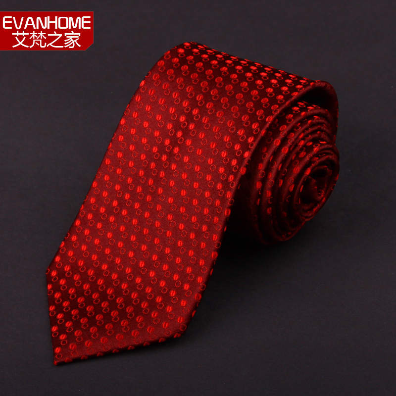 AI Vatican home new silk tie men dress wedding groom silk tie dark red dot A45-80(China (Mainland))
