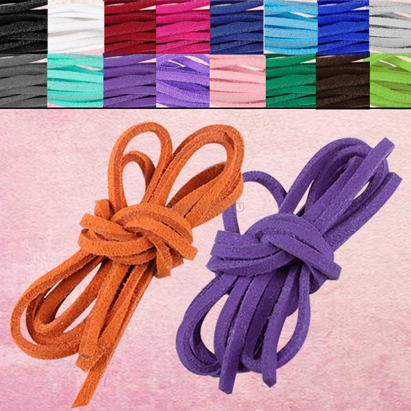 ES4631 17pcs/lot soft leather suede lace cord rope string bracelet necklace craft gift diy strap(China (Mainland))