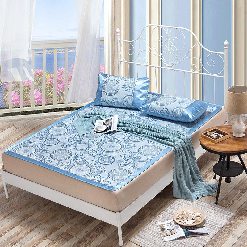 Summer Cool mat kit fitted sheet Jacquarde folding sheet mat bed cover for summer rattan mat 1.8m 1.5m bed summer bedding mat(China (Mainland))