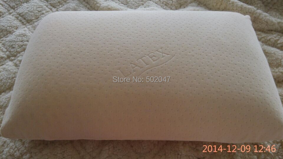 Natural latex pillow / traditional shape / king size / 70*40*14cm / Free shipping/Factory supplier(China (Mainland))
