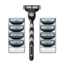 Buy 2017 8pcs/lot razor Blades&Razor holder shaving razor bladed set shaver shaving razors blades men RU&Eu for $4.50 in AliExpress store