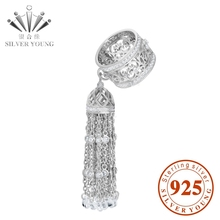 2015 EUROPE POPULAR TASSEL RING TOP BRAND LUXURY REAL SILVER 925 TASSEL RING RHODIUM COATING WITH CRYSTAL  AND CZ FOR WOMEN