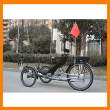 Suspension electric recumbent trike 500W motor 48V/20Ah battery with pedal assist(China (Mainland))