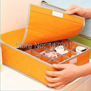 2014 Real Colorful Charcoal 24-lattice Container Underwear Collecting Box Socks Containing Bra Storage Device Receiver Containe(China (Mainland))