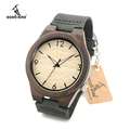 Luxury Brand Men Watches Wood Wristwatch Relogio Masculino Watches With Genuine Leather Band Qurtz Wood Watch