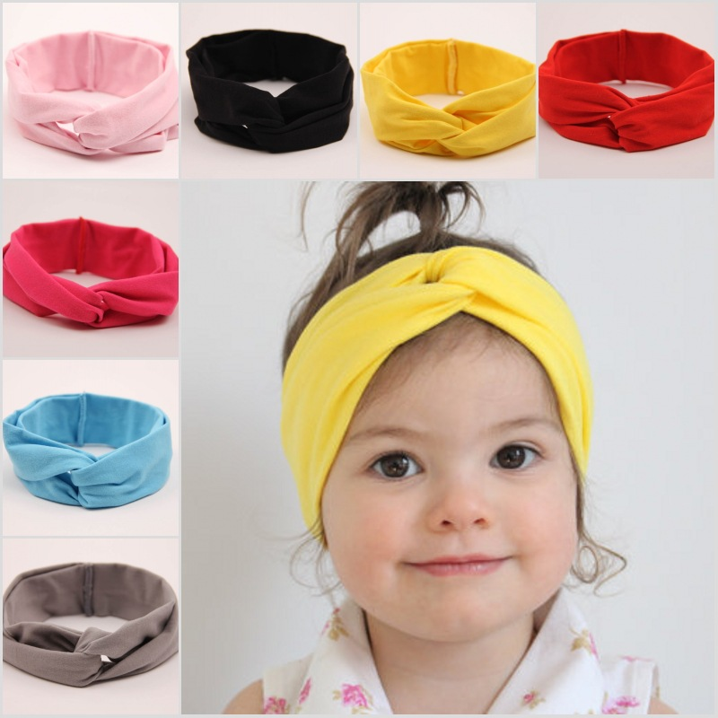 1pcs Fashion Cute Toddler Baby Infant Kids Girls Broad Headband Hair Band Cross Head Wrap New Hair Accessories(China (Mainland))