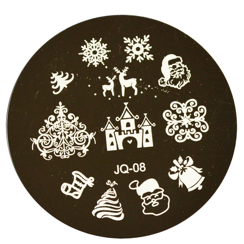 1pcs Christmas XMAS Designs Print Manicure Nail Stencil Template Nail ...