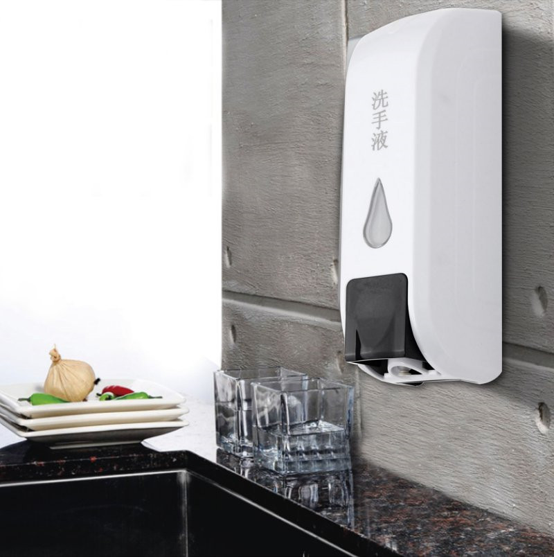 Wall Mounted 350ml Hotel Home Bathroom Liquid Double Soap Dispenser Shampoo Lotion Shower Gel Foam Container Bottle Dispensers(China (Mainland))