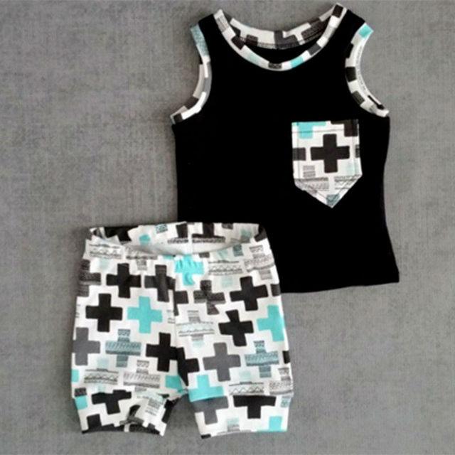 Одежда для новорожденных Наборы Топы и Шорты 2 Шт костюм Хлопок Тонкий Малышей и ...