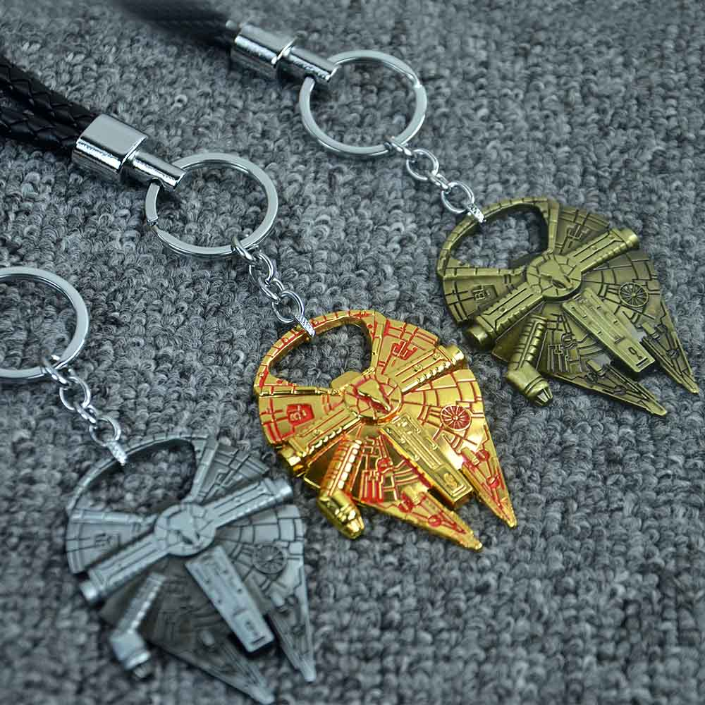Hot Star Wars Starship Millennium Falcon Motorcycle & Car Keychain Car Styling Purse Bag Backpack Ring Pendant Car Accessories(China (Mainland))