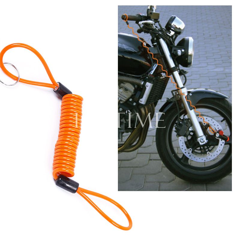 New Practical Motorcycle Bike Scooter Alarm Disc Lock Security Spring Reminder Cable Tight #58404(China (Mainland))