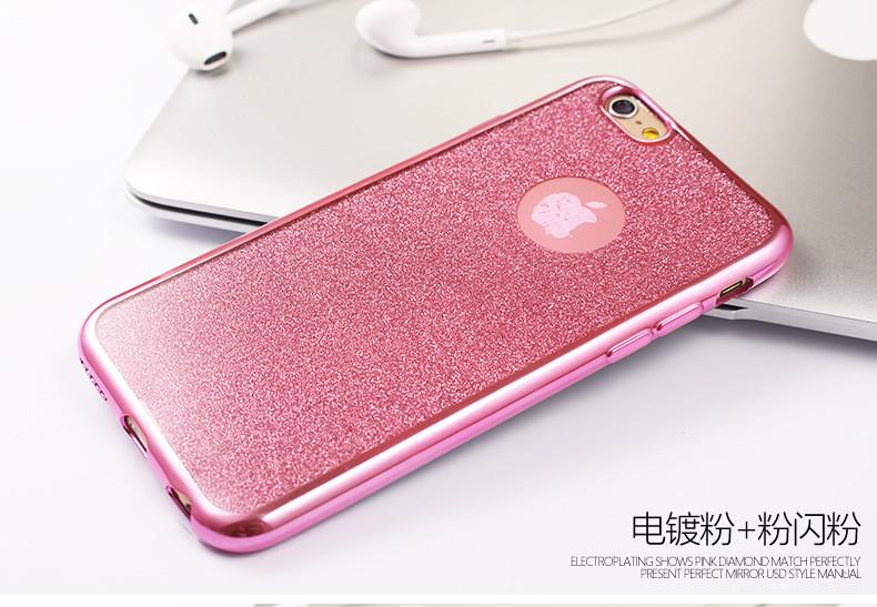 2016 Luxury Ultra Thin Glitter Bling Cases For iPhone 5 5s SE 6 6s Plus 6Plus Soft Gel TPU Diamond Flash Shiny Powder Back Cover