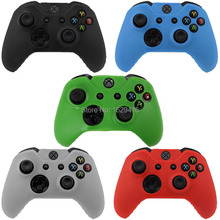IVY QUEEN 1 PCS Soft Silicone Rubber Protective Skin Case Cover For Microsoft Xbox one 1 Controller Black Green Blue Red Clear(China (Mainland))